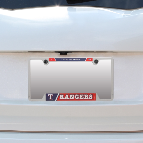 Texas Rangers WinCraft Metal License Plate Frame - No Size