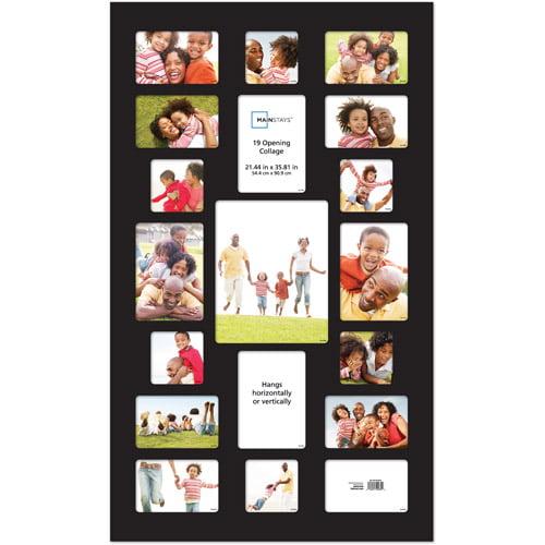 mainstays 19 opening collage frame black walmart com