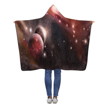 HATIART Planets Nebula Galaxy Hooded Throw Blanket 40x50 inches Toddler Kid Baby Boys Girls Wearable Blankets - image 1 of 2