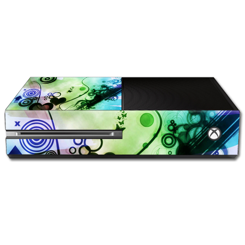 Mightyskins Protective Vinyl Skin Decal Cover for Microsoft Xbox One Console wrap sticker skins Abstract Hearts