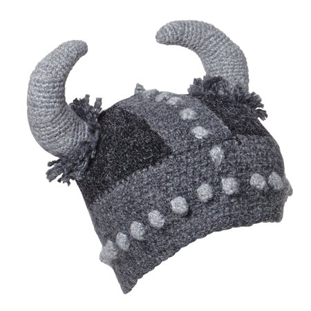 7b46914a9 Unisex Adult Fun Thor Viking Hat - Hand Knit with Viking Horns