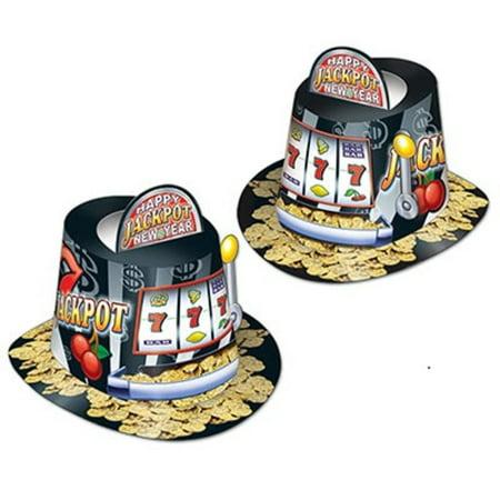 - Club Pack of 25 Black Jackpot Casino Slot Machine Pop-Up Hi-Hat Costume Accesories