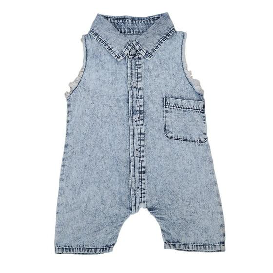 bbf47be78 Honganda - Fashion jeans summer kids suit baby boy jumpsuit tank top ...