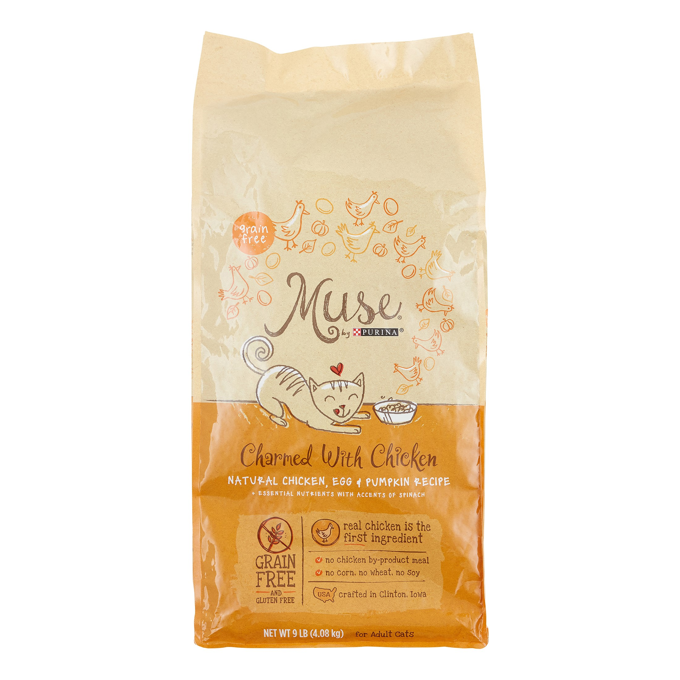 Purina Muse Charmed with Natural Chicken, Egg & Pumpkin Dry Cat Food, 9 lb