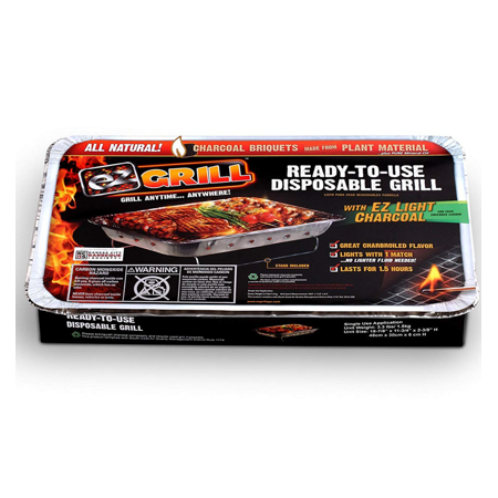 Disposable Grill by EZ Grill, Large Size Disposable Charcoal
