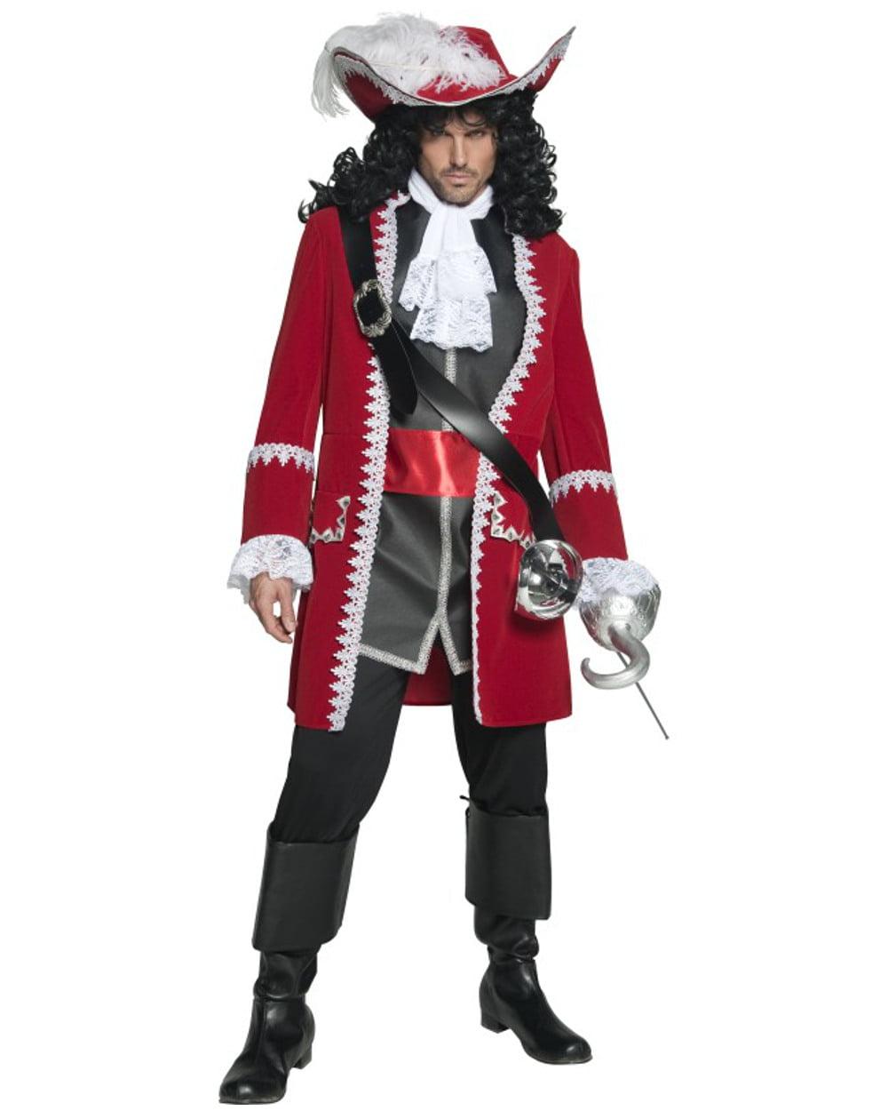73becf77 Mens High Seas Pirate Captain Hook Scalawag Buccaneer Costume