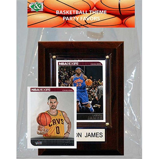 Candlcollectables 46LBCAVS NBA Cleveland Cavaliers Party Favor With 4 x 6 Plaque