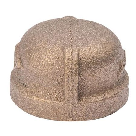 B & K Industries  Red Brass Pipe Cap, 0.37 in. - image 1 of 1