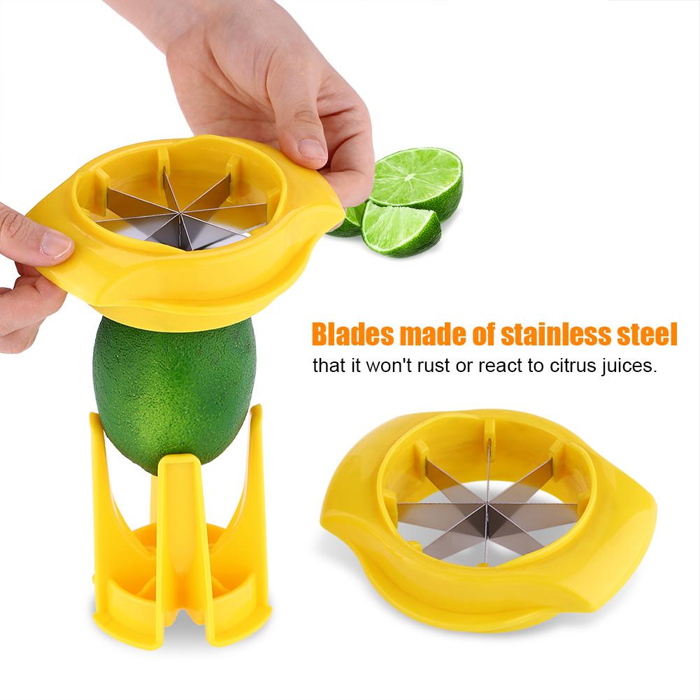 EECOO Stainless Steel Lemon Orange Slicer Fruit & Vegetable Food Cutter Kitchen Tool Orange Slicer Fruit Slicer