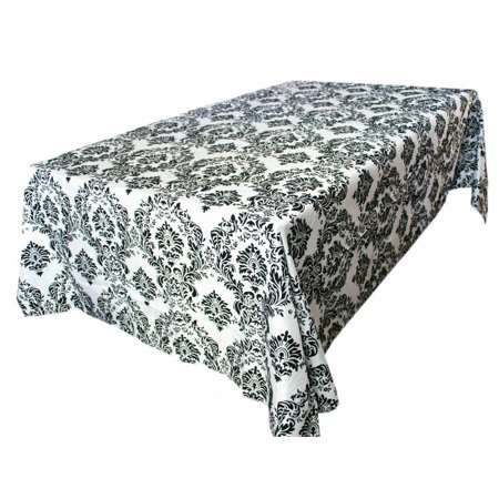 Efavormart Rectangle Flocking Damask Tablecloths For Kitchen Dining