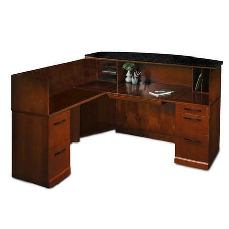Mayline Shape Reception Desk Granite Counter