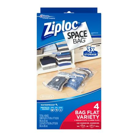 Ziploc Space Bag Vacuum Seal Dual Use Flat Combo Storage