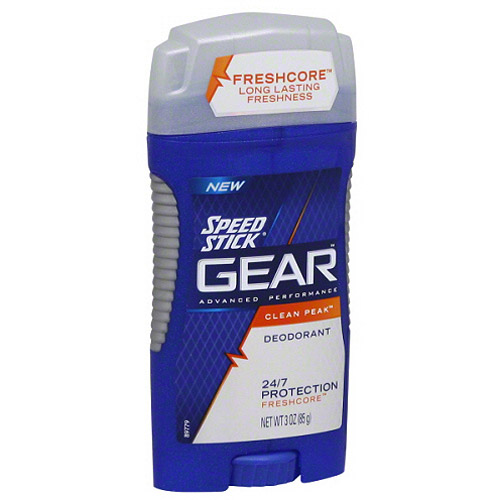 Speed Stick Gear Advanced Performance Clean Peak Deodorant, 3 oz