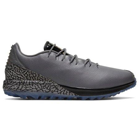 NEW Mens Nike Air Jordan ADG Spikeless Golf Shoes Gunsmoke/Gold/Black Sz 8.5 M Mens Spikeless Golf Shoes