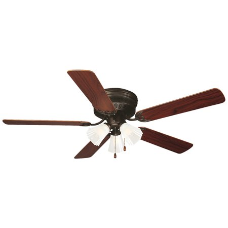 Maple Blade Set (Design House 153411 Millbridge 52-Inch 3-Light 5-Blade Hugger Mount Ceiling Fan, Dark Mahogany/Light Maple Blades, Oil Rubbed)