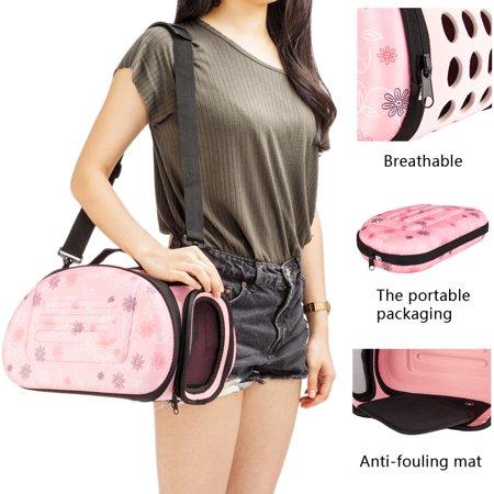 Zimtown Handbag Carrier Comfort Pet Dog Travel Carry Bag For Small Animals Cat Pink Dog Pet Carrier Teacup