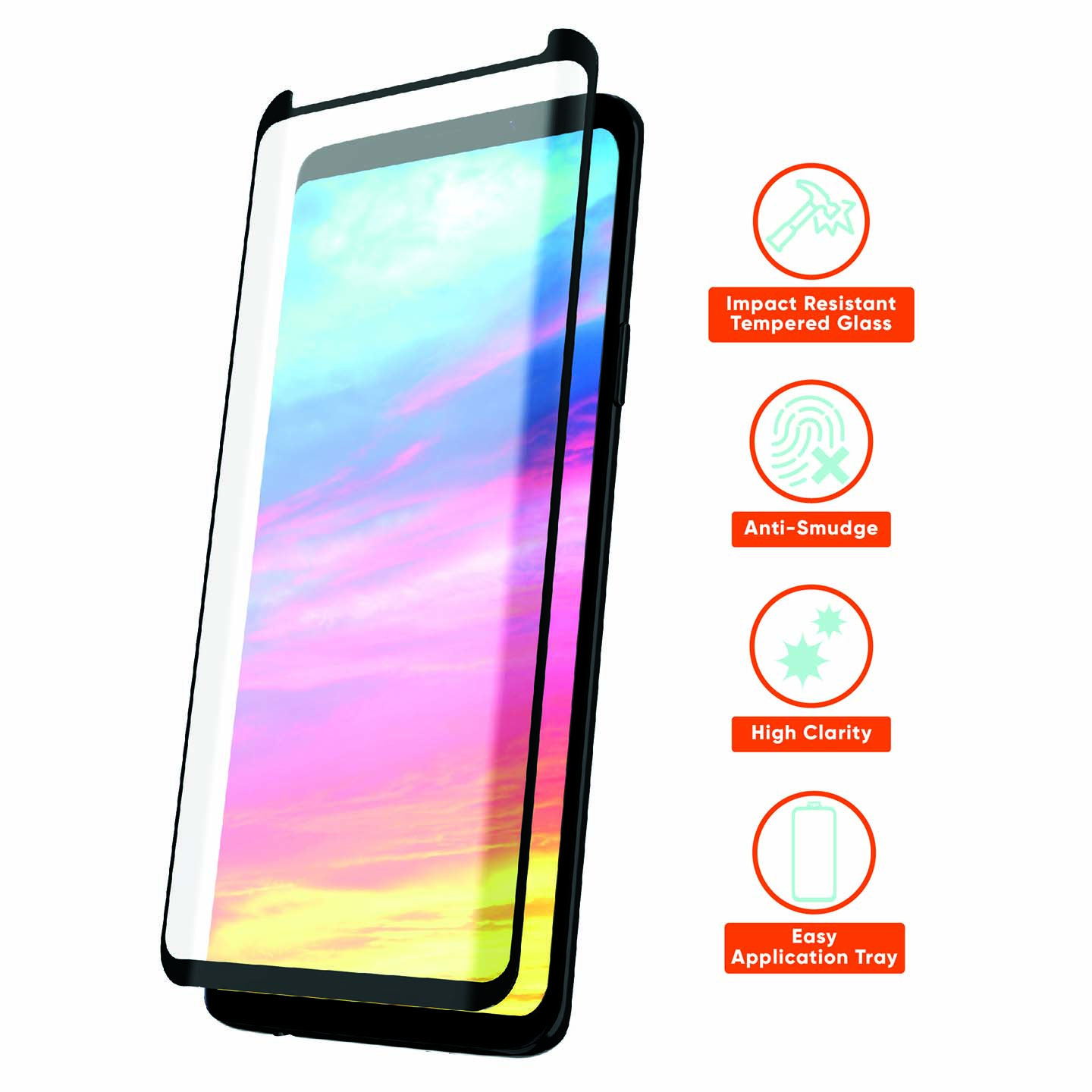 WanShiHengTong Screen GGR 50 PCS Non-Full Matte Frosted Tempered Glass Film for Galaxy J4 No Retail Package Clear