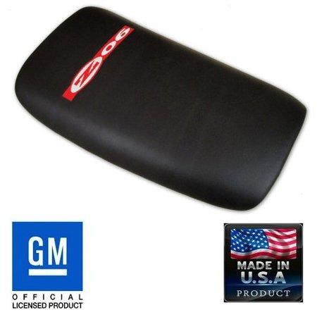 - C5 Corvette Center Console Pad Lid Black Leather with Red ZO6 Embroidered Emblem Fits: All 97 through 04 Corvettes