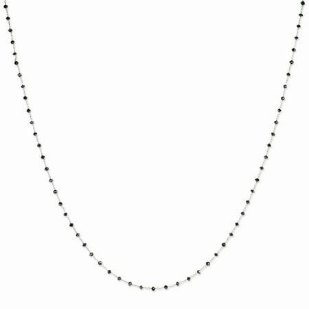 14K White Gold (13.95cttw)Black Diamond Briolette Necklace -24
