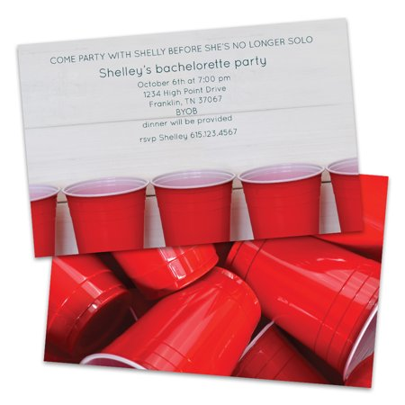 Personalized Red Solo Cups Bachelorette Party - Personalized Cups For Wedding