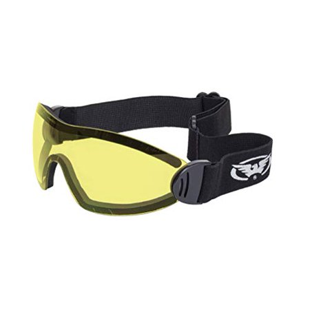 Global Vision Eyewear Flare Anti-Fog Goggles with Storage Pouch, Yellow Tint