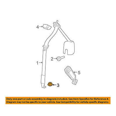 Rear Seat Belt - Jeep CHRYSLER OEM 08-16 Wrangler Rear Seat Belt-Outer Belt Nut 6508792AA