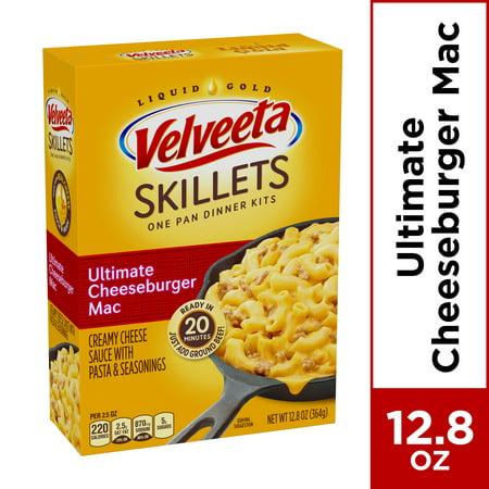 Velveeta Cheesy Skillets Ultimate Cheeseburger Mac Dinner Kit, 12.86 oz Box