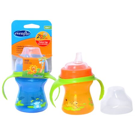 Evenflo Zoo Friends Trainer Cup  Bpa Free  Color May Vary