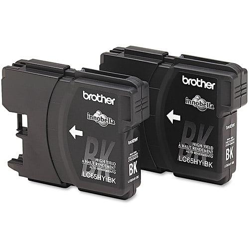 Brother Black High-Yield Inkjet Print Cartridge, 2pk (LC652PKS)