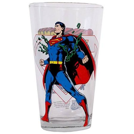 Toon Tumbler: SUPERMAN (DC) 16 Ounce pint glass