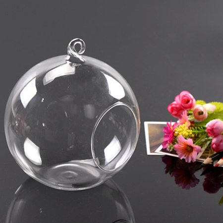 Glass Round Hanging Candle Tea Light Holder Candlestick Party Home Decor