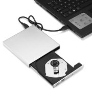 USB 2.0 External DVD Drive DVD VCD CD RW Drive Burner Reader Player Superdrive External Drive For Apple Mac Macbook-silver color