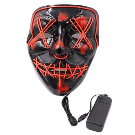 Halloween Light Up Mask Purge Movie Flash LED Wire Fluorescent Mask