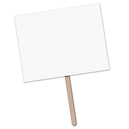 Pack Of 6 Blank For Personalization Party Yard Sign With