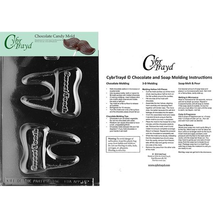 Sweet Tooth Chocolate Candy Mold with Exclusive Cybrtrayd Copyrighted Molding Instructions