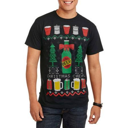 Christmas Men's Beer Fair Isle Tee - Fair Isle Tie