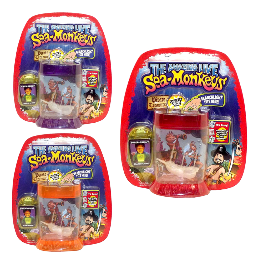 The Amazing Live Sea-Monkeys Pirate Treasure Tank, Assorted, 1 count by