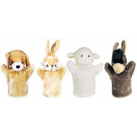 Get Ready Kids Lamb, Puppy, Bunny and Donkey Farm Animal Puppet Set
