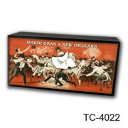 Caravelle Designs TC-4022 Mardi Gras Tissue Box Cover