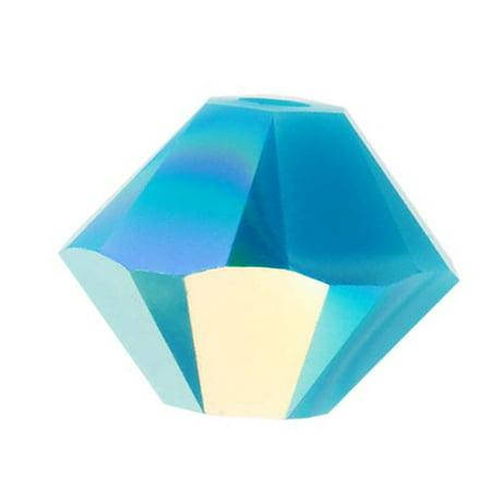Swarovski Crystal, #5328 Bicone Beads 3mm, 25 Pieces, Turquoise AB Ab Swarovski Crystal Cube Beads