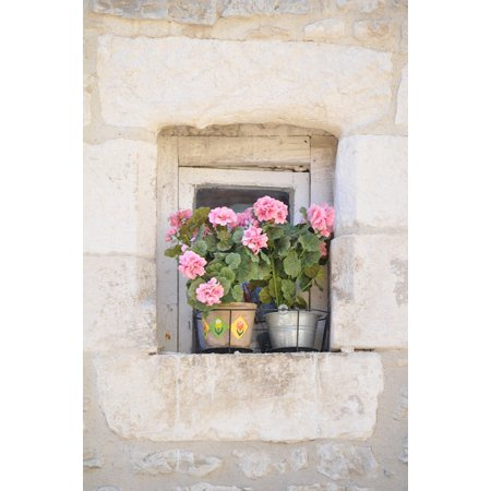 Canvas Print Old Window Hauswand Window Window Sill Flowers Stretched Canvas 10 x (Best Sander For Window Sills)