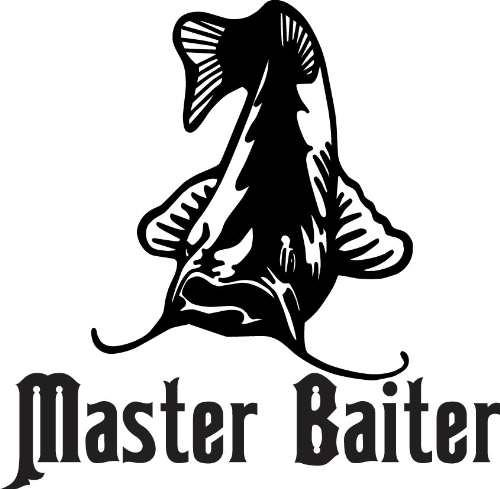 "Custom Decal Master Baiter Catfish Animal - Kids Boys Bed Room 16""X16"" - Picture Art - Peel & Stick Vinyl Wall Decal Sticker"