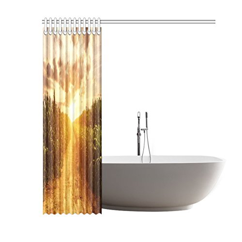 GCKG Corn Field Shower Curtain, Autumn Skyline Polyester Fabric Shower Curtain Bathroom Sets with Hooks 60x72 Inches - image 2 of 3