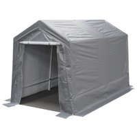 King Canopy 7 ft x 12 ft Garage - Silver