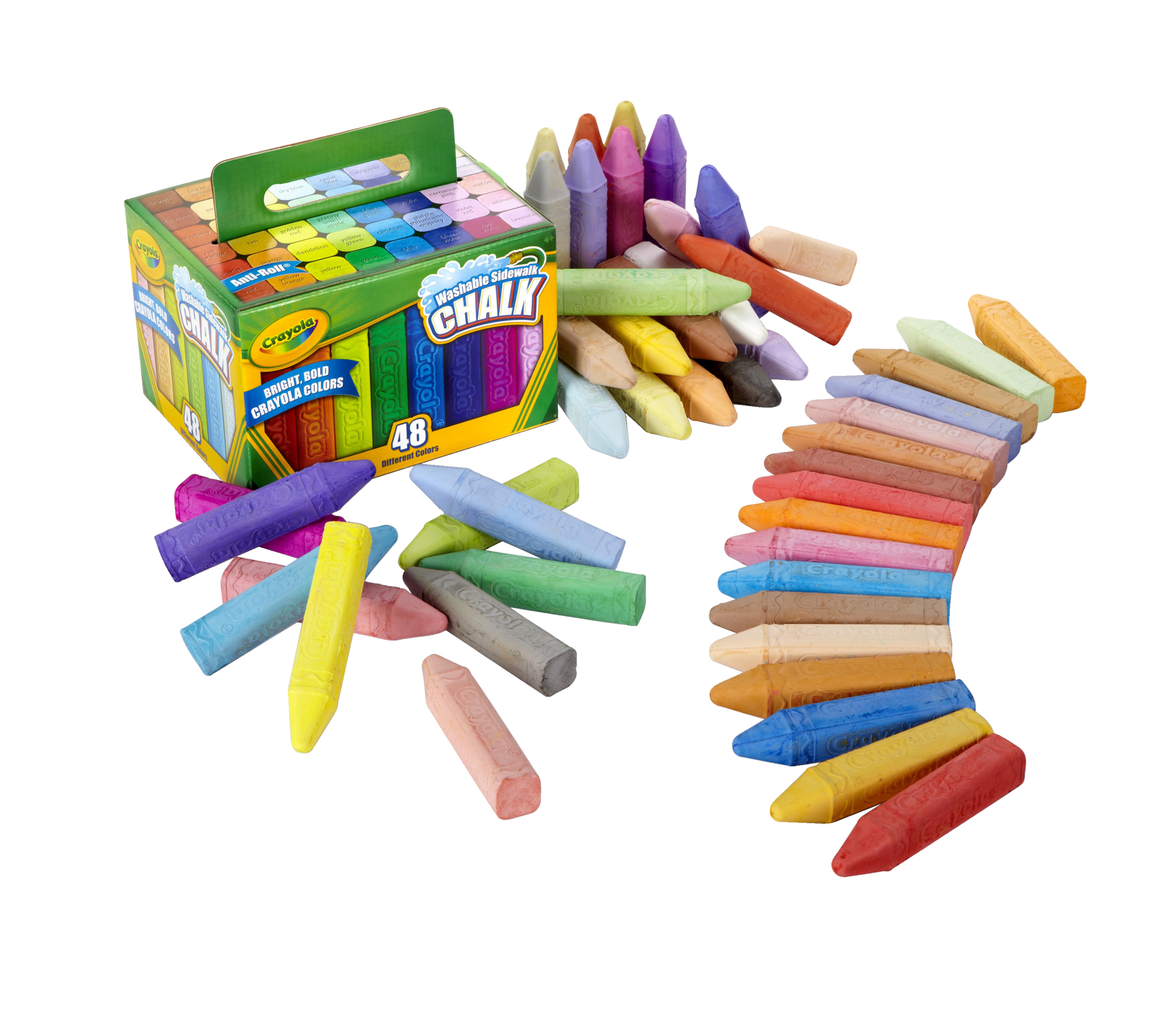 Crayola 48 Count Washable Sidewalk Chalk in Assorted Colors by Crayola LLC