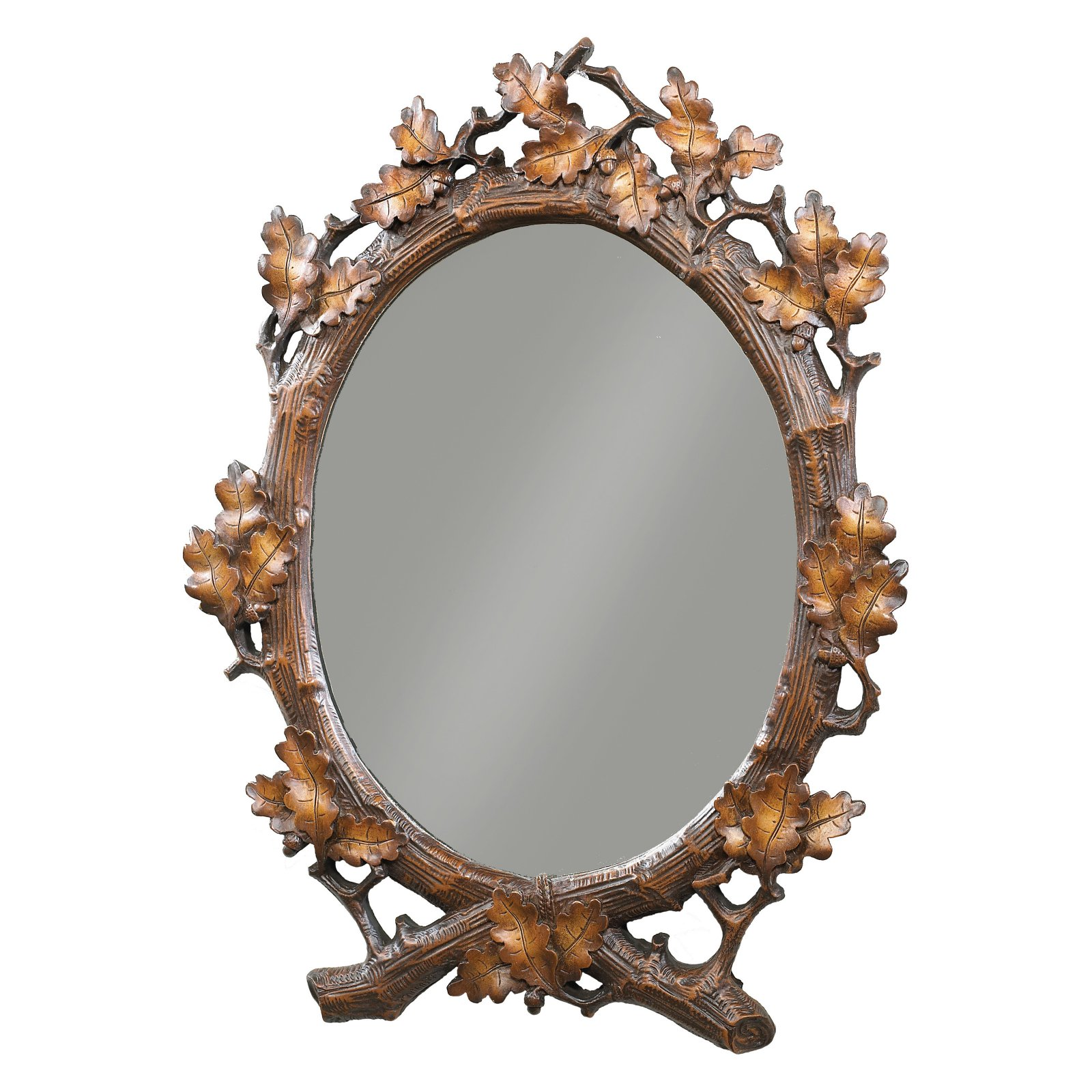 Oklahoma Casting Oval Oak Leaf Wall Mirror