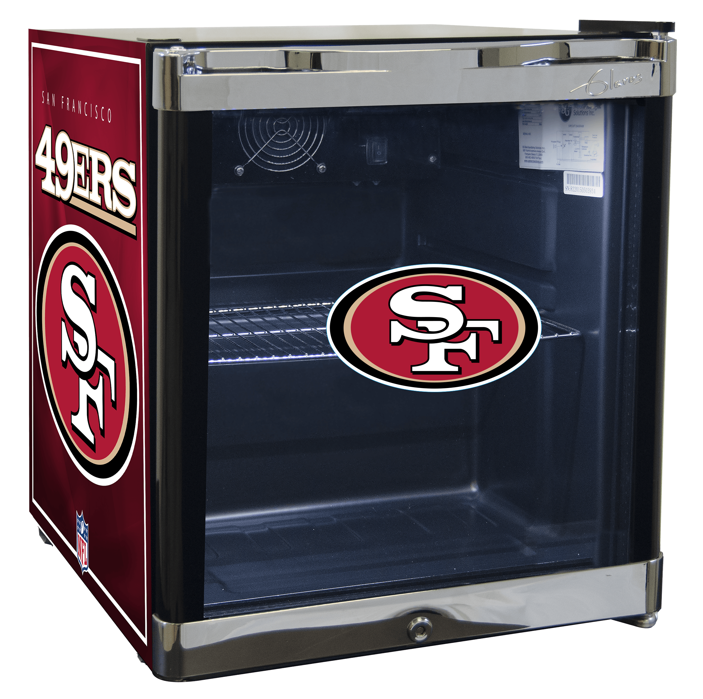 NFL Refrigerated Beverage Center 1.8 cu ft - Tampa Bay Buccaneers