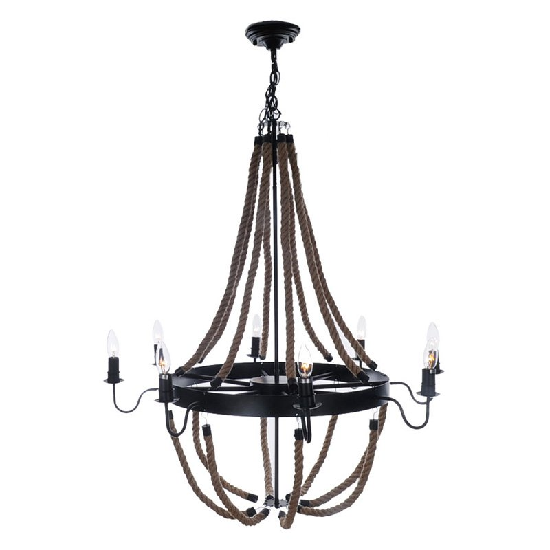 Old Modern Handicrafts Large Rope AL011 Pendant Lamp by Overstock