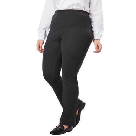 - Woman Within Plus Size Bootcut Ponte Stretch Knit Pant