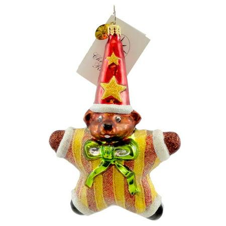 Christopher Radko STARBEAR Glass Teddy Wizard Christmas Christopher Radko Christmas Plates